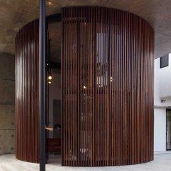 درب اتوماتیک کرکره ای گرد چوبی
